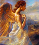 Репродукция в раме (Ангел, 80х60)