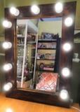Зеркало гримерное 90*60 с лампочками