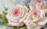 Репродукция в раме (Бело-розовые розы, 70х50)