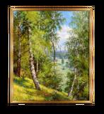 Репродукция в раме (Березы в лесу, 70х50)