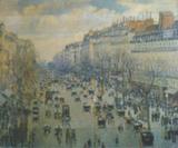 Репродукция в раме (Бульвар Монмарт в Париже, 50х40)