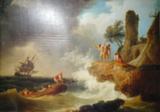Репродукция в раме (Буря у скалистого берега, 80х50)