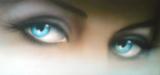 Репродукция в раме (Голубые глаза, 50х40)