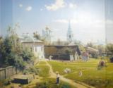 Репродукция в раме (Московский дворик, 50х40)