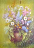 Репродукция в раме (Полевые цветы, 60х50)