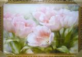 Репродукция в раме (Розовые тюльпаны, 70х50)