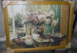 Гобелен в раме (Ваза с розами, 80х60)