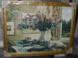 Гобелен в раме (Ваза с тюльпанами, 80х60)