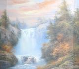 Репродукция в раме (Водопад4, 45х35)
