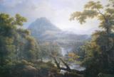 Репродукция в раме (Водопад в Тиволи, 70х50)