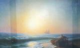 Репродукция в раме (Восход Солнца, 70х40)