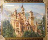 Гобелен в раме (Замок в горах, 70х50)